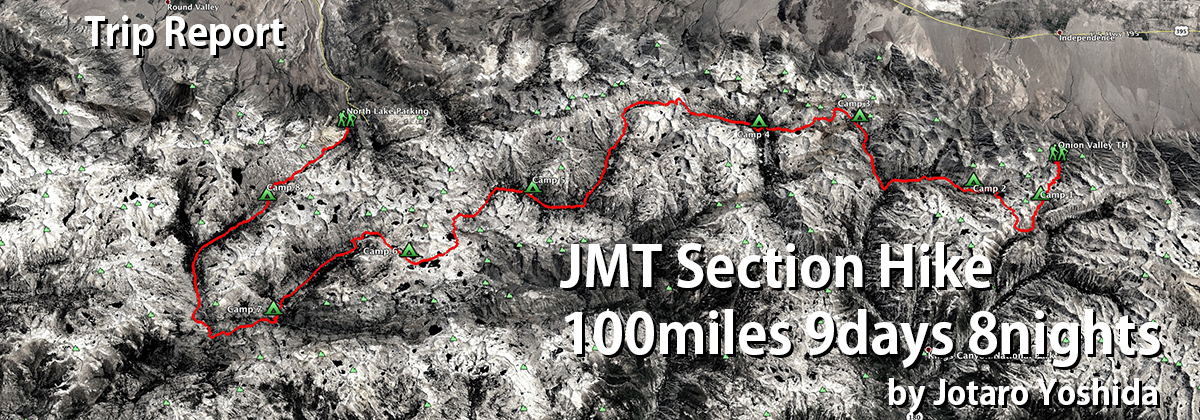 JMT Section Hike 100miles 9days 8nights